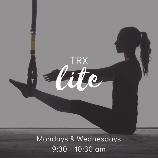 TRX Lite: A 4 week TRX program with a little less intensity than bootcamp.